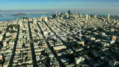 Aerial landscape view of the city of San Francisco, USA