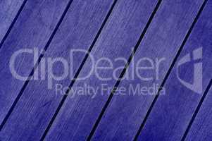 Blaue Holzbretter