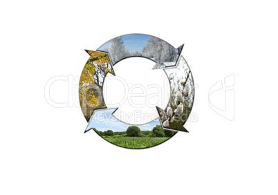 sign symbolizing four seasons