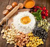 Italian pasta oracchiette homemade