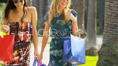 Girlfriends Enjoying a Shopping Trip