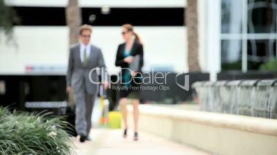 Smart Business Team Outdoors Downtown