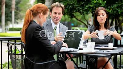 City Business Executives Wireless Technology Outdoors