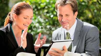 City Management Team Good News via Tablet