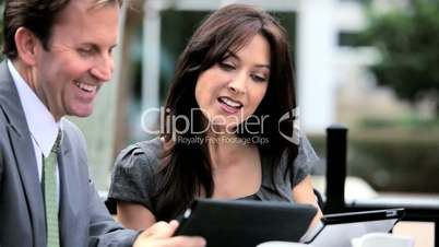 Business Executives Global Communication Outdoors