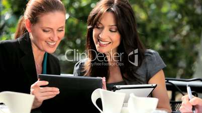 Female Executives Wireless Technology Outdoor