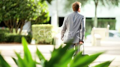 Businessman Returning from Travel