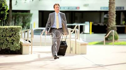 Successful Businessman Returning from Travel