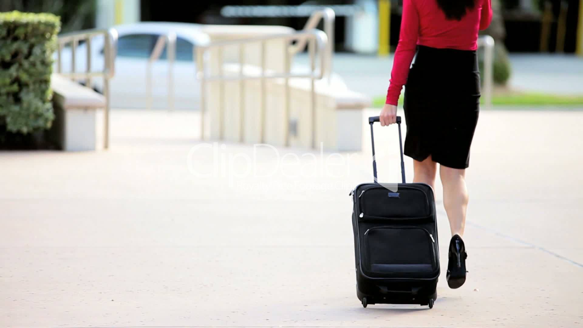 Businesswoman Leaving On Business Travel Royalty Free Video And