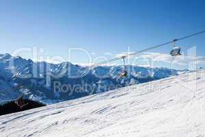 Cable car going to Schmitten peak