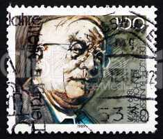 postage stamp germany 1989 reinhold maier, politician
