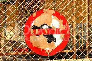 Selbstgemachtes einfahrt verboten schild - Selfmade No entry Sig