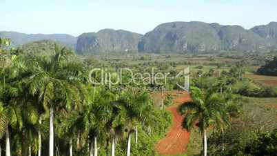 View of hills and mountains in Viñales, Cuba