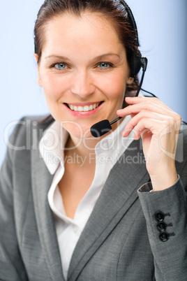 Portrait of female customer service operator