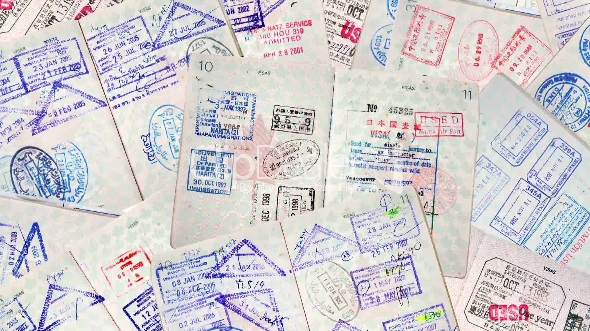Passport international travel stamps royalty free video and stock clips passport international thecheapjerseys Image collections