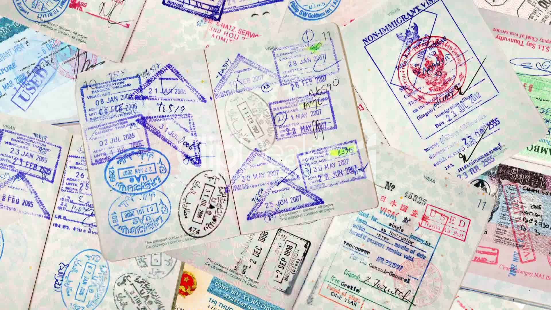 Clips Passport Travel Stamps