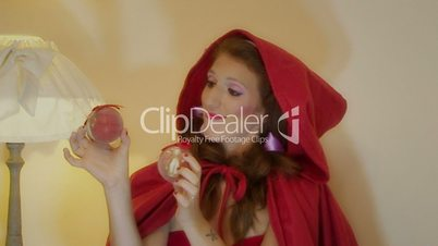 Christmas Little Red Riding Hood and Big Bad Wolf funny scene full commercial