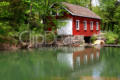 Historical Building of Sawmill and Dam.