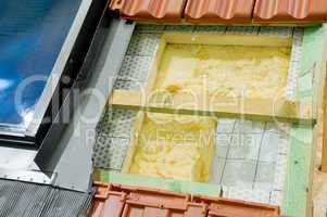 wärmedämmung eines daches thermal insulation of a roof