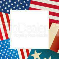 independence day flag card