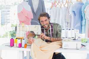 Fashion designer in a creative office