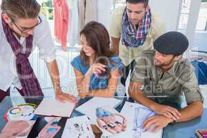 Group of designers working