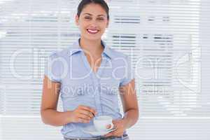Cheerful businesswoman smiling