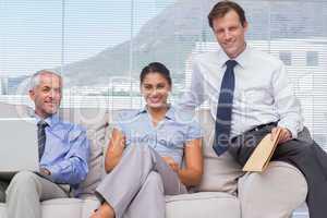 Business people sitting on sofa