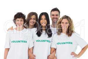 Group of people wearing volunteer tshirt
