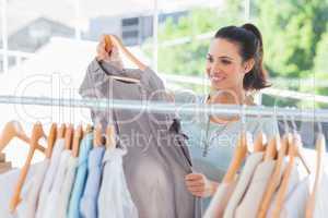 Fashion woman choosing dress
