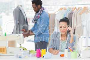 Fashion designer calling and writing