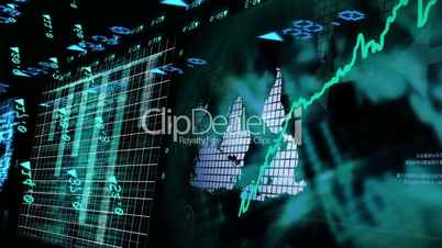 Animation of stock market data with growing chart
