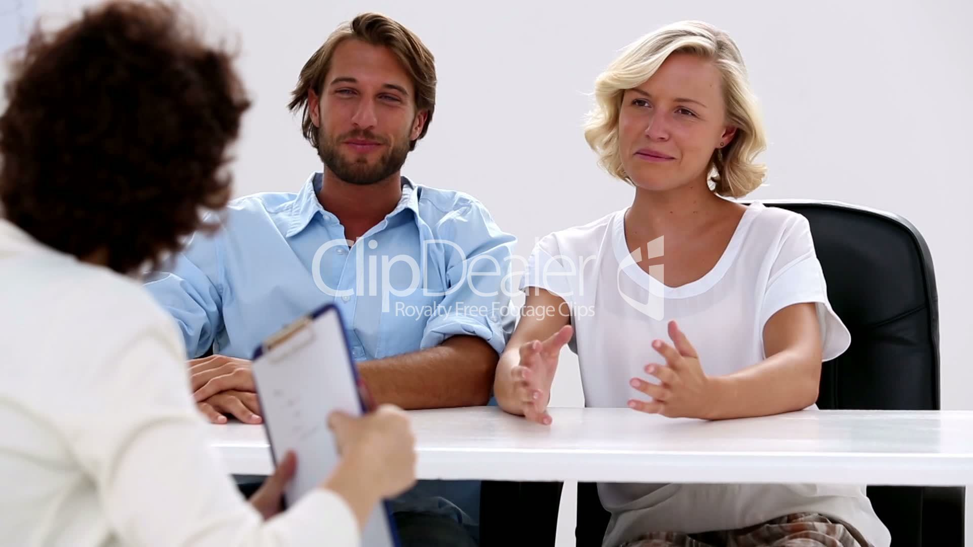 Happy Couple With Therapist Royalty Free Video And Stock Footage