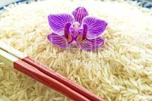 Basmati Reis mit Orchideenblüte