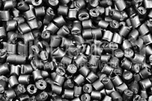 matallic gray polymer granulate