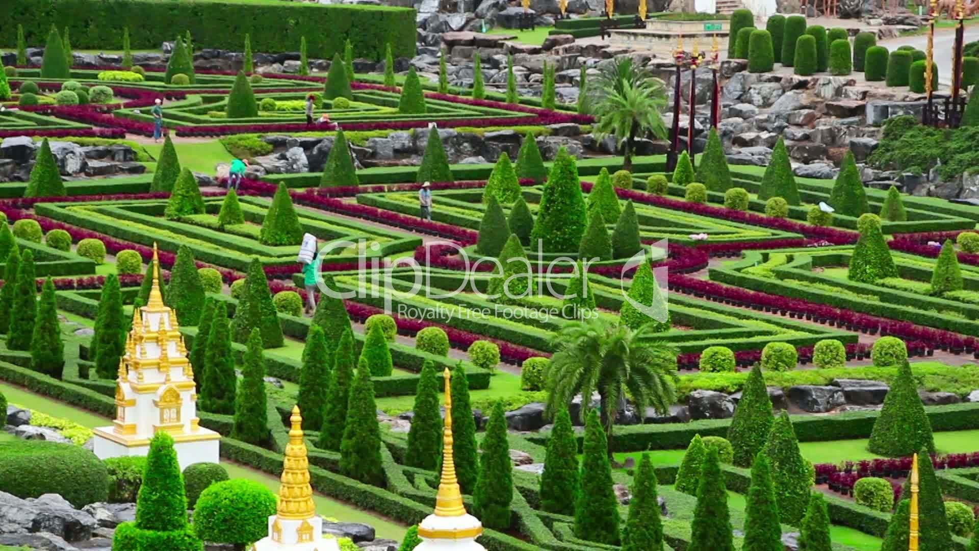 nong nooch tropical botanical garden in thailand royalty free