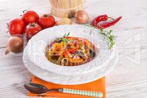hungarian lecho (lecsó)