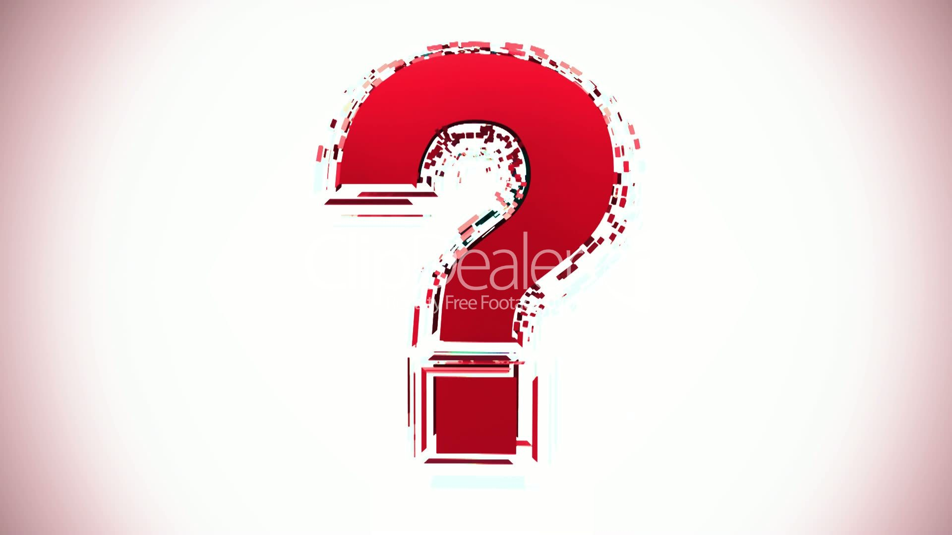 Question Mark Glitchy Royalty free video and stock footage