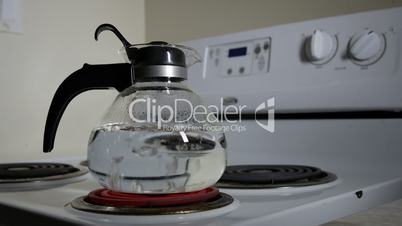 Water Boils Whistling Glass Kettle 30P