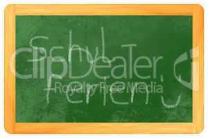 schulferien kreide auf tafel - schulferien chalk on blackboard