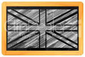 UK Flagge auf einer Tafel - UK Flag on a blackboard