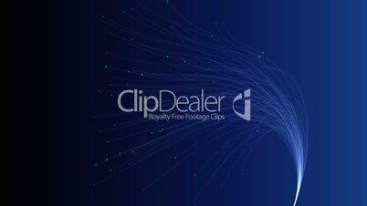 Fiber Optic Blue Background