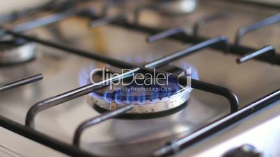 flame cooker in the kitchen - close up