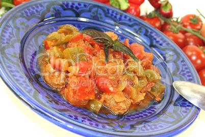 frisch gekochte Tagine Kefta