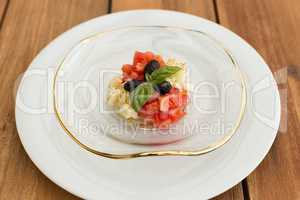 Mozzarella and tomatoes tartar