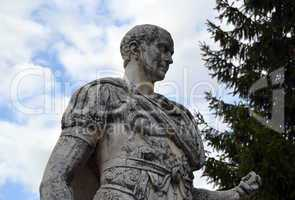 Statue of Julius Caesar in the city of Nyon