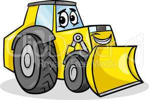 bulldozer character cartoon illustration