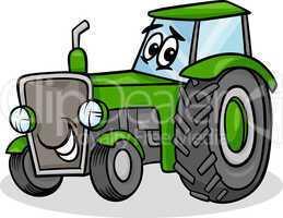 tractor character cartoon illustration
