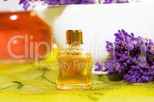 Perfume with blossoms of Lavender