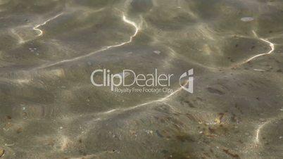 Wave pattern with sand underwater